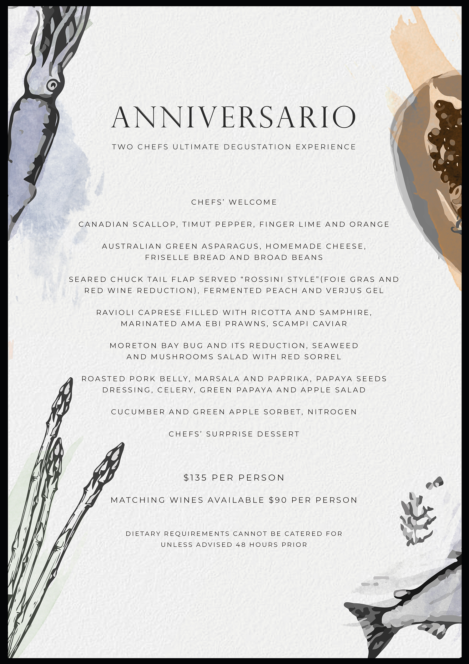 Anniversary Dinner at Deer Duck Bistro with guest Chef Enzo Ninivaggi